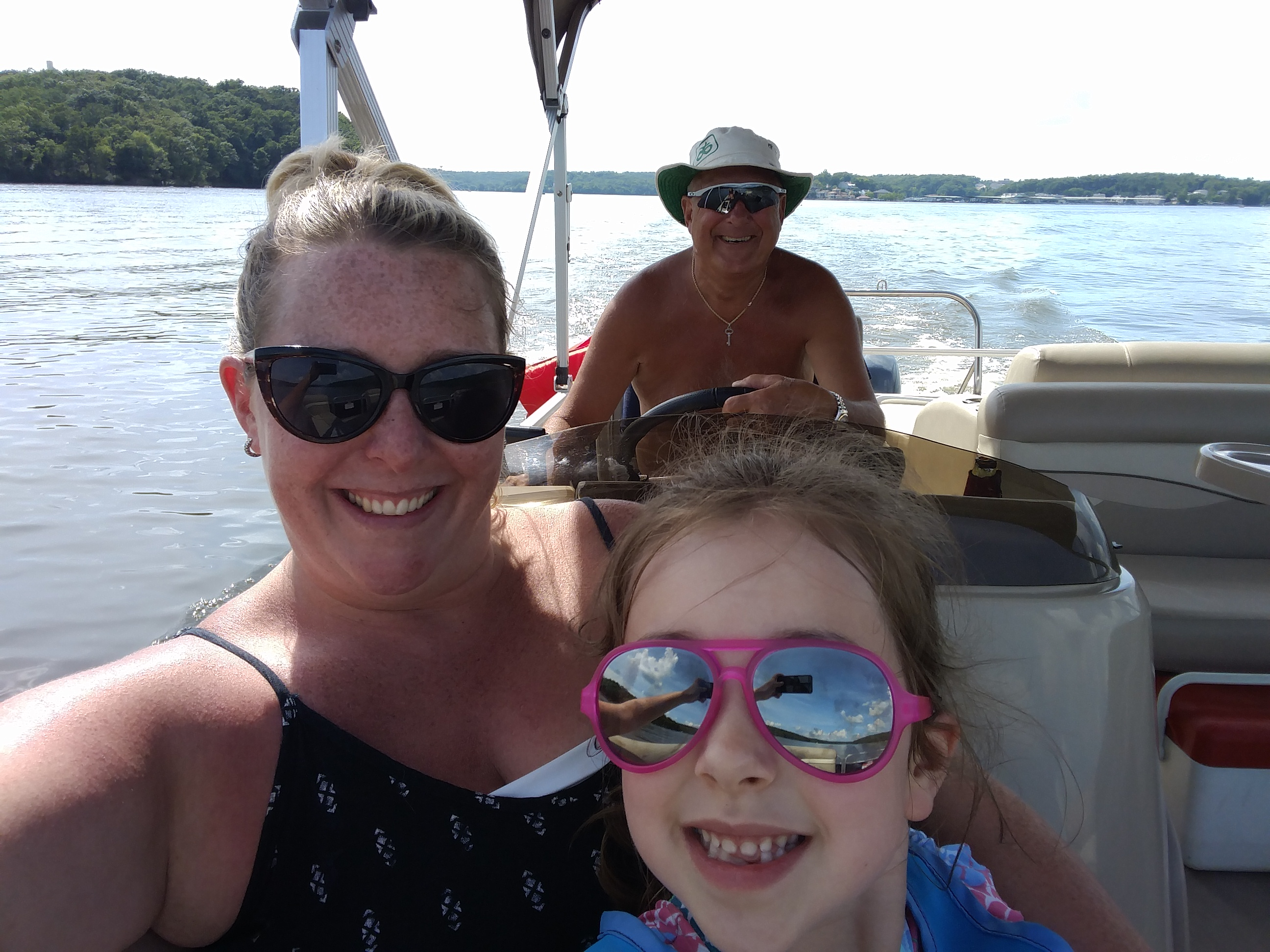 Look who\'s no longer terrified of the boat!!
