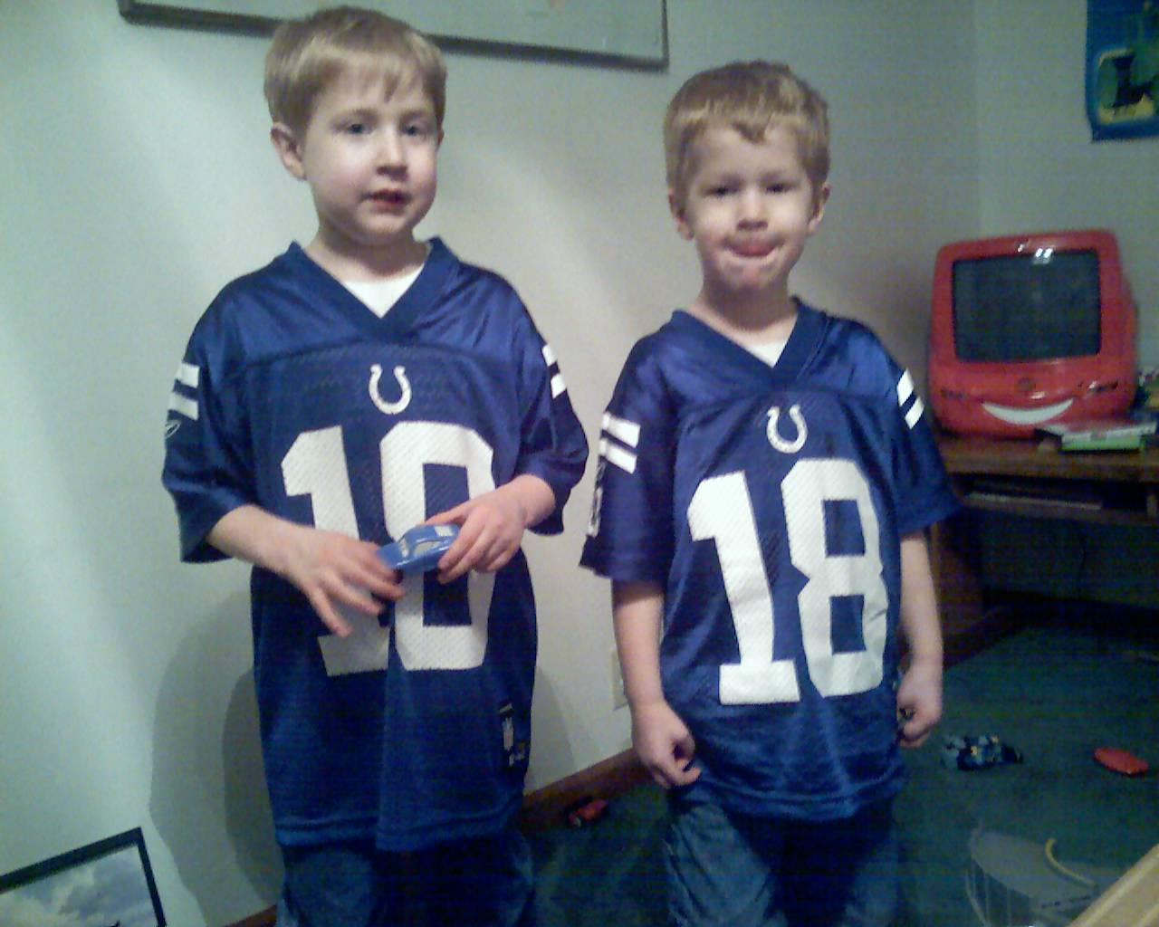 Two big little Colts fans